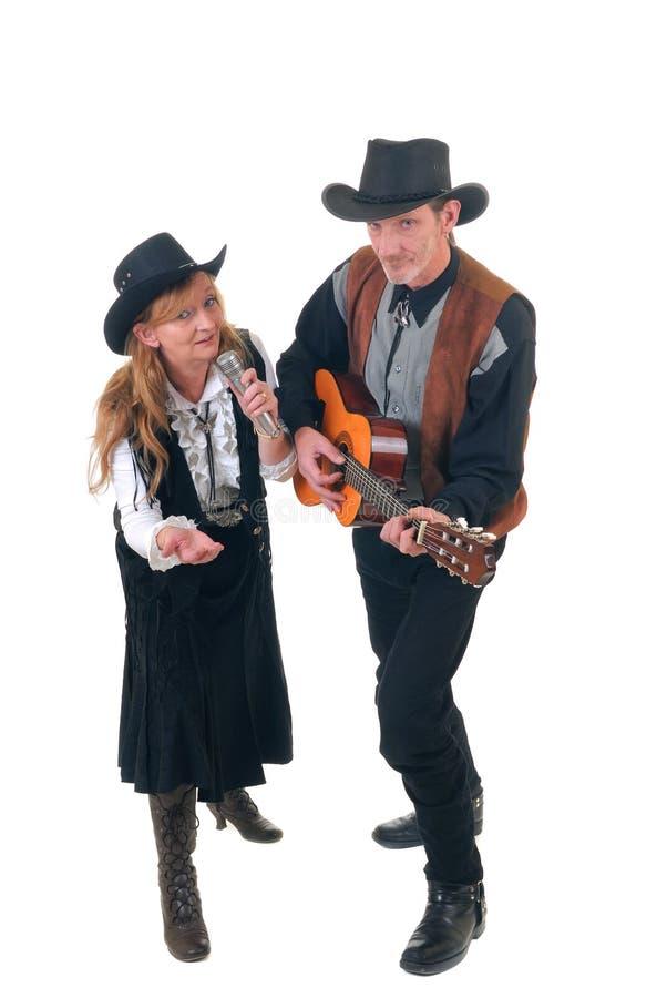 País y cantantes occidentales imagenes de archivo