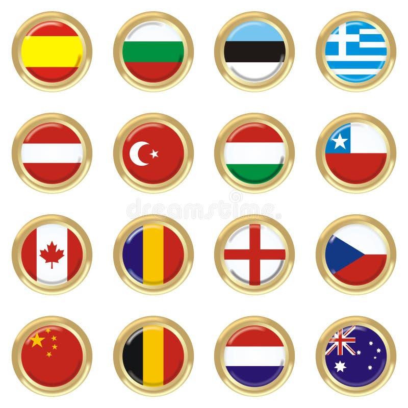 Países ilustração do vetor