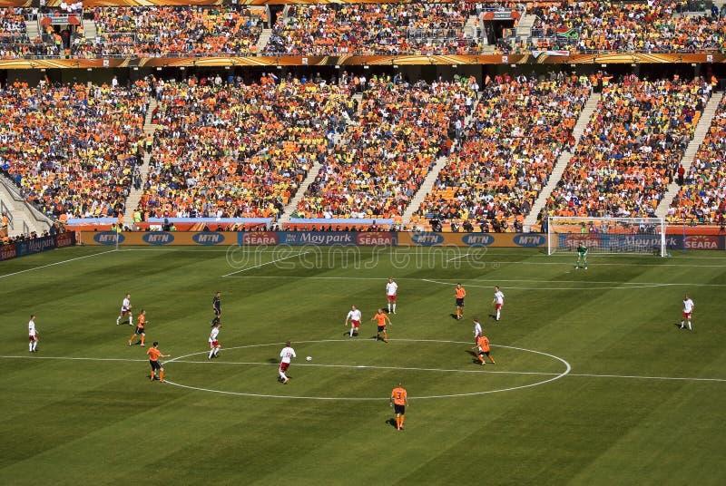 Países Bajos contra Dinamarca - WC 2010 de la FIFA foto de archivo
