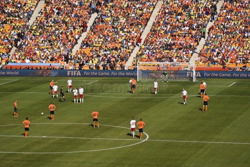 Países Bajos contra Dinamarca - WC 2010 de la FIFA imagen de archivo libre de regalías