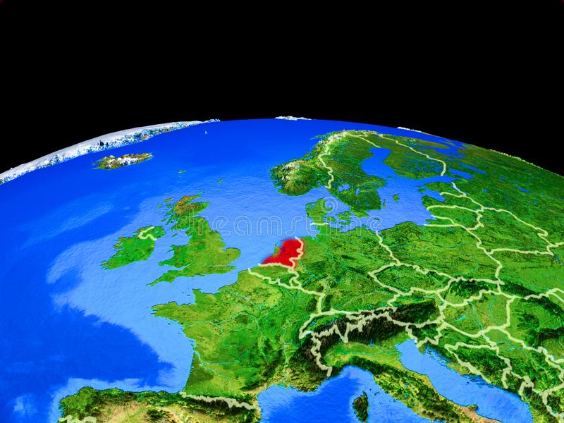 Países Bajos del espacio en la tierra libre illustration
