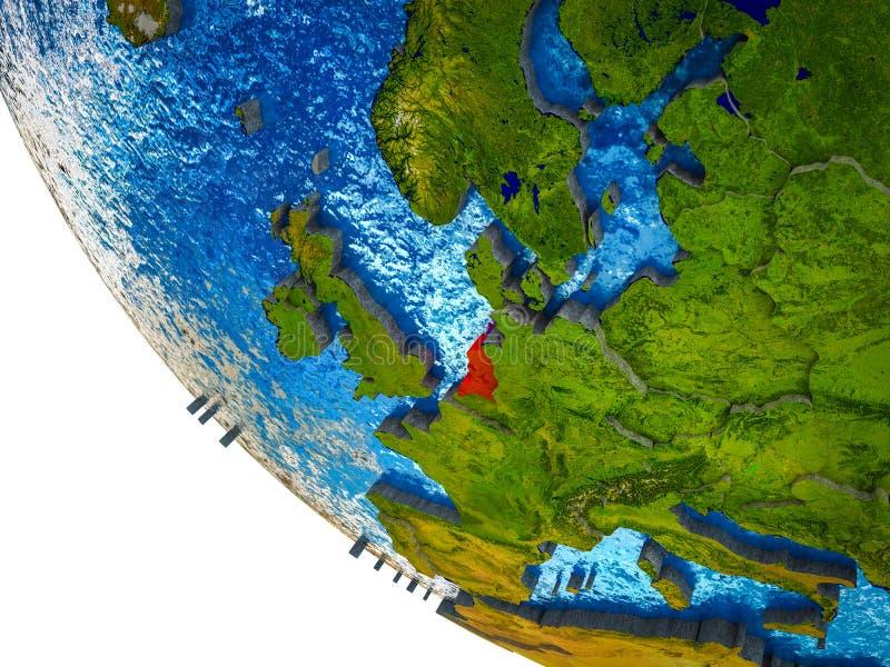 Países Bajos en la tierra 3D ilustración del vector