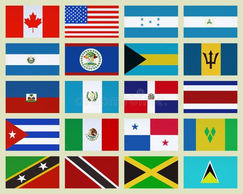 Países de America do Norte ilustração stock