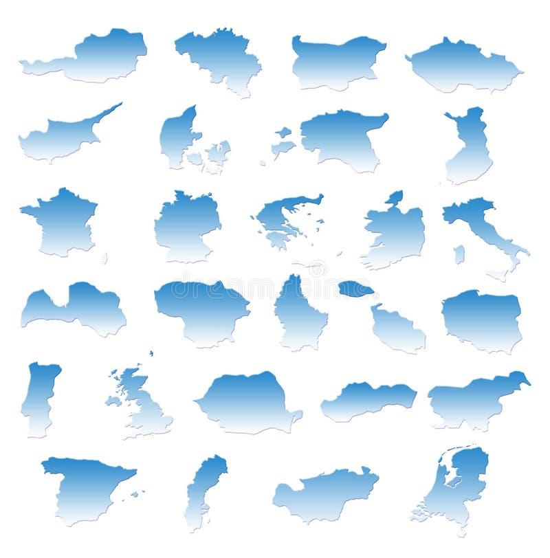Países de Eu ilustração stock