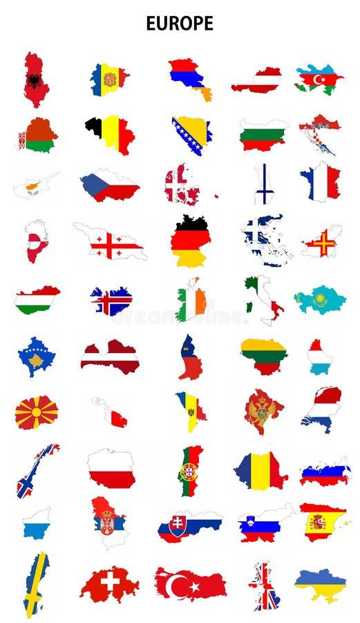 Países de Europa ilustração royalty free