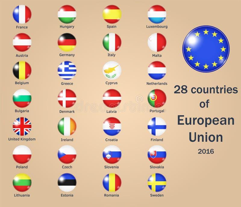 Países de la UE ilustración del vector