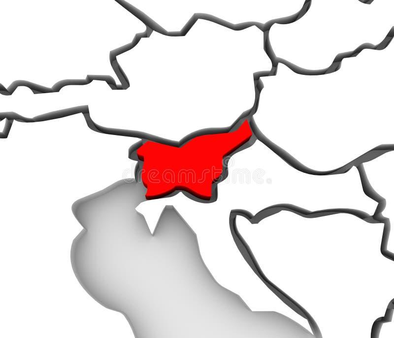 países del continente de Eslovenia Europa del mapa del extracto 3D stock de ilustración