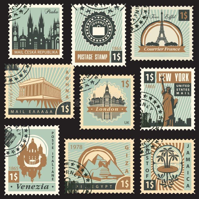 Países diferentes ilustração royalty free