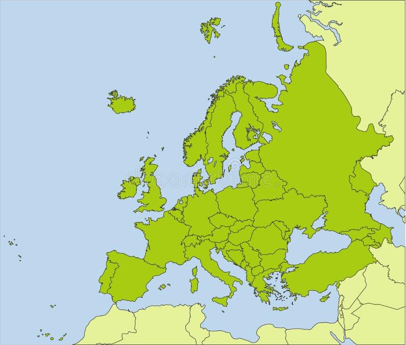 Países europeos ilustración del vector