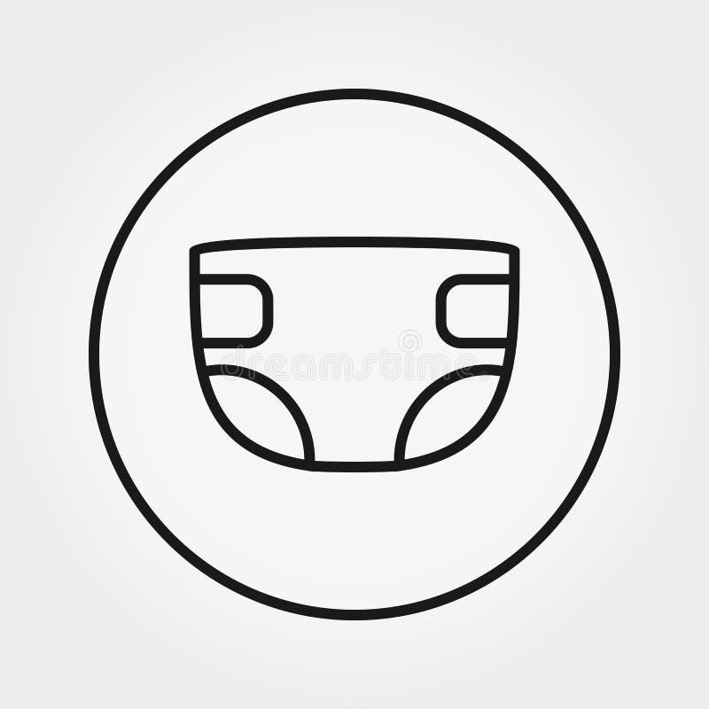 pañal Icono universal Vector Línea fina Editable stock de ilustración