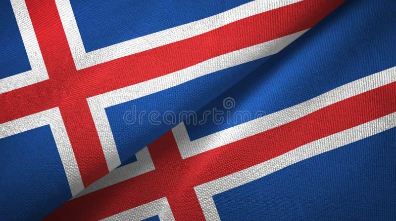 Paño de la materia textil de las banderas de Islandia dos, textura de la tela libre illustration