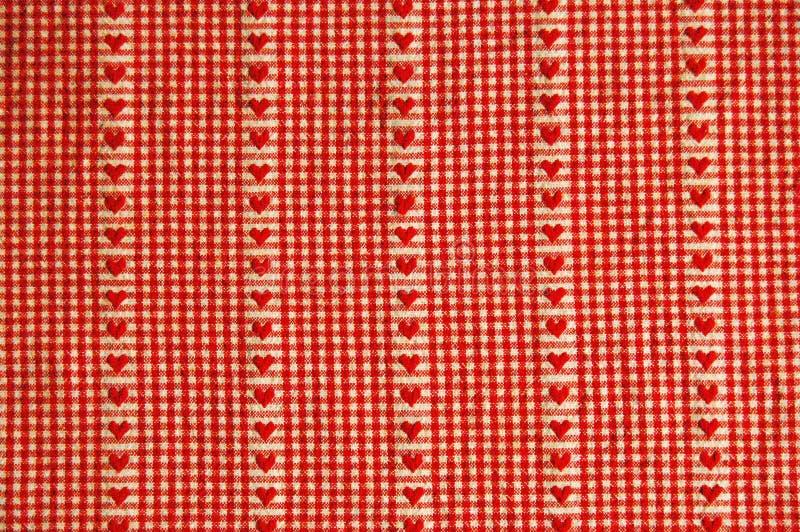 Paño de vector rojo del corazón fotografía de archivo