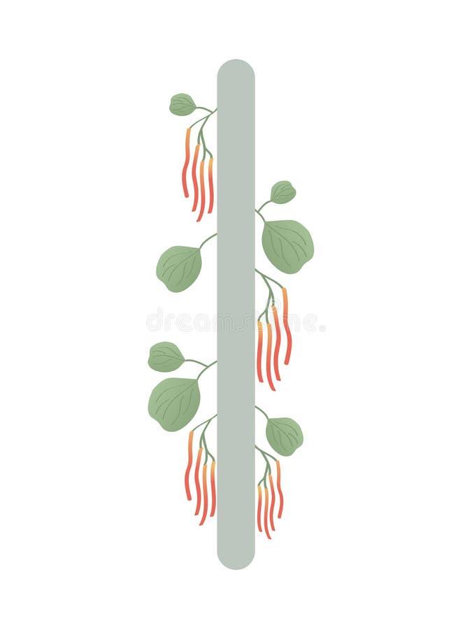 Paño grueso y suave Escandinavia Ejemplo del vector de las runas AIA El símbolo de la letra Futhark Esotérico espiritual Paño gru ilustración del vector