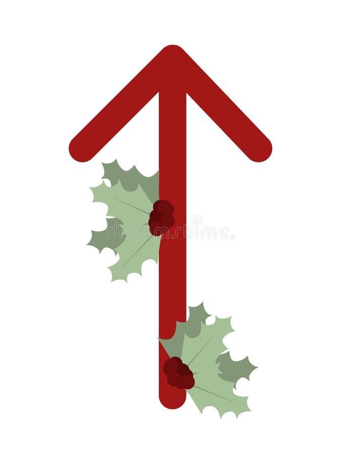 Paño grueso y suave Escandinavia Ejemplo del vector de las runas Teiwaz Tiewaz El símbolo de la letra Futhark Esotérico espiritua libre illustration