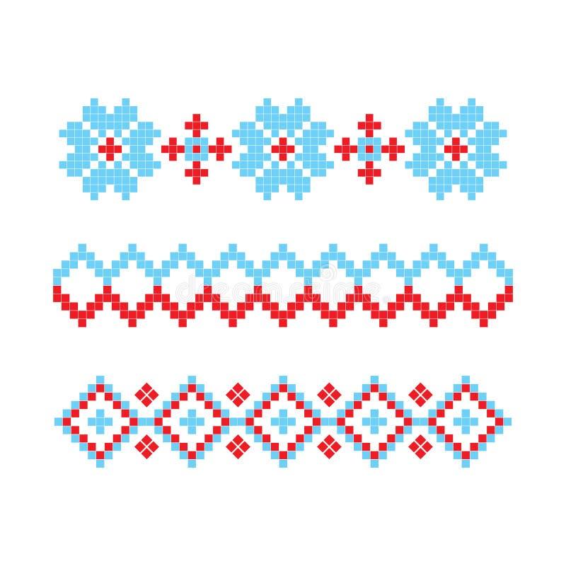 Paño retro hecho punto con la plantilla del elemento del copo de nieve Vector libre illustration