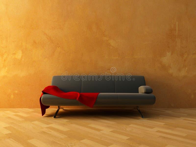 Paño rojo en el sofá
