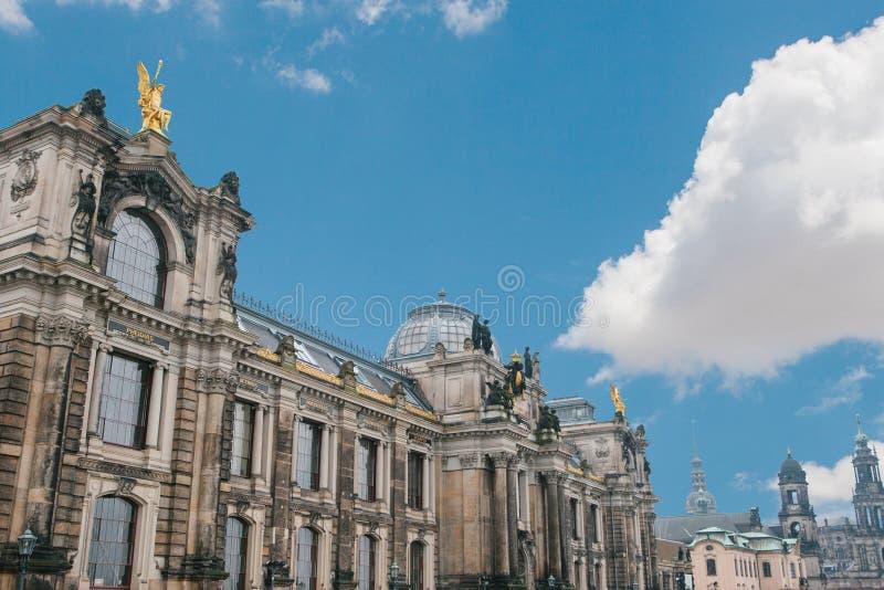 Pałac Albertinum lub galeria sztuki w Drezdeńskim w Niemcy lub zdjęcie stock
