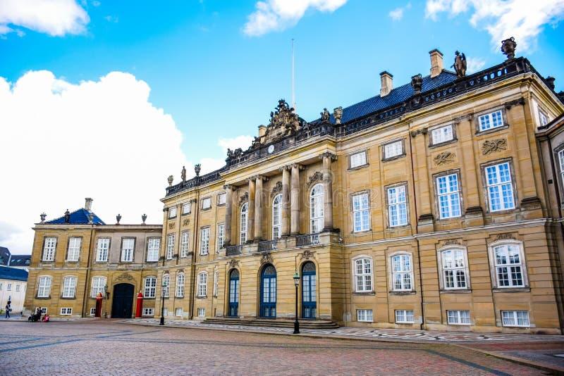 Pałac Amalienborg, Kopenhaga, Dani obrazy royalty free