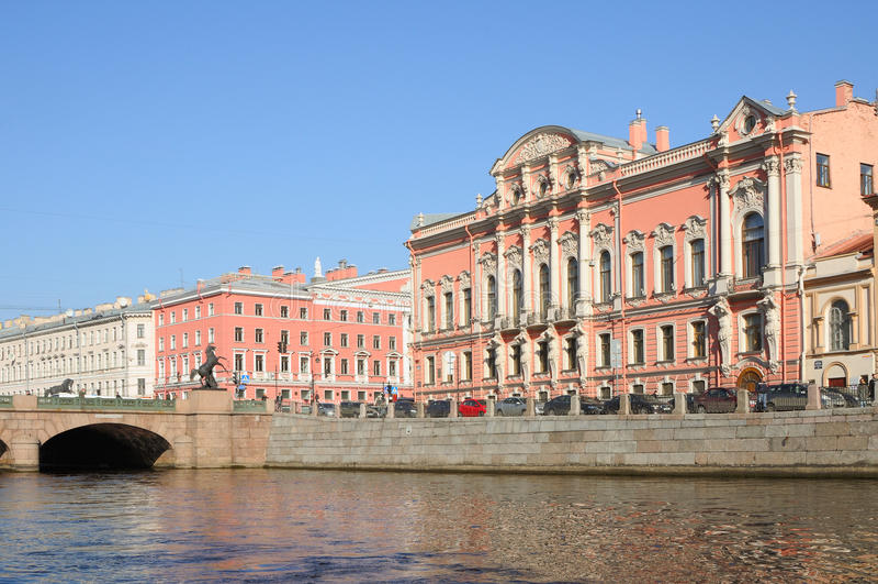 Pałac Beloselskih-Belozerskih fotografia stock