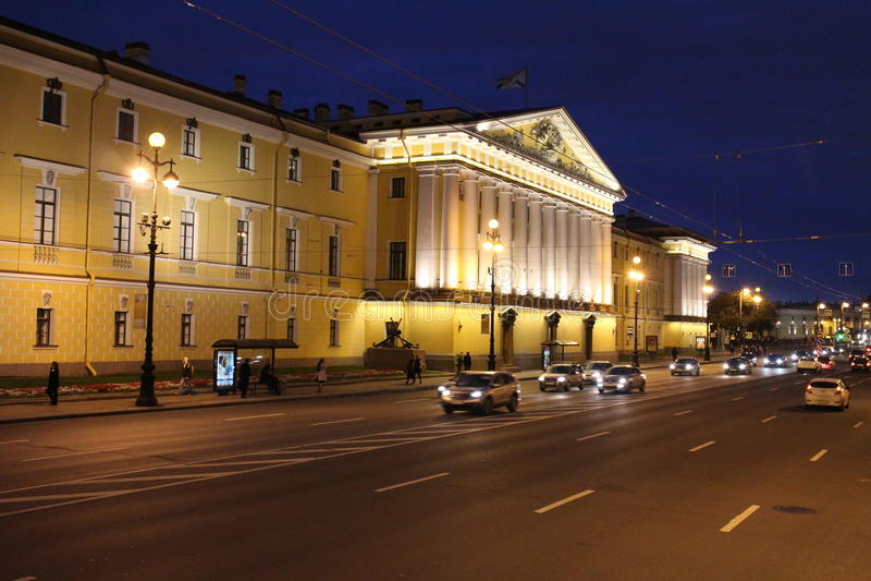 Pałac blisko eremu, święty Peterburg zdjęcia royalty free
