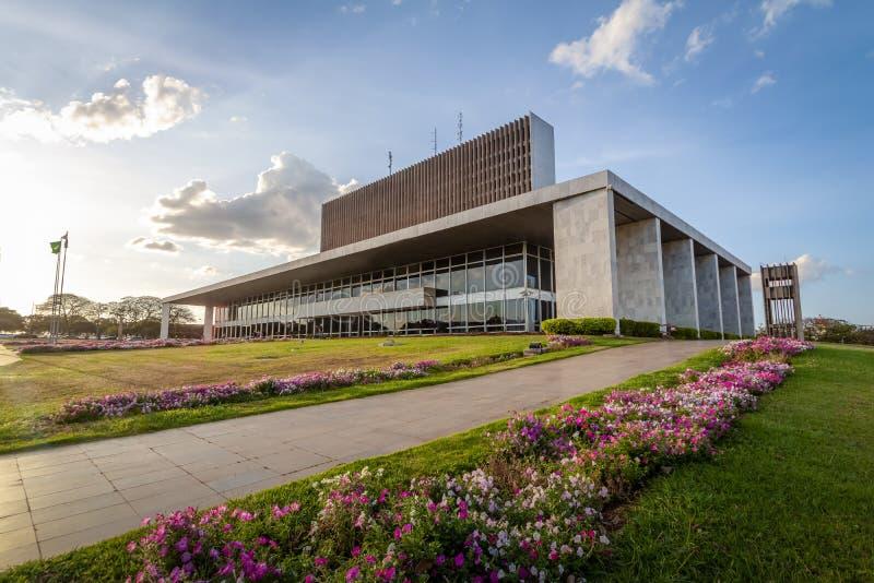 Pałac Buriti siedzenie rząd Federacyjny Distrito - Brasilia, Distrito Federacyjny, Brazylia zdjęcia stock