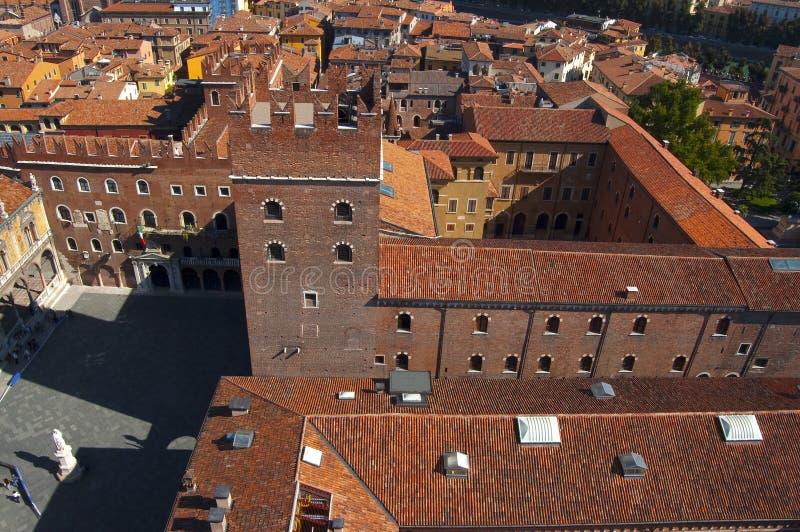 Widok od Lamberti wierza - Verona Włochy obrazy stock