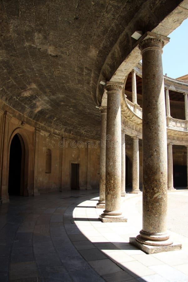 Pałac Charles V w Alhambra, Granada, Andalusia, Hiszpania zdjęcia stock