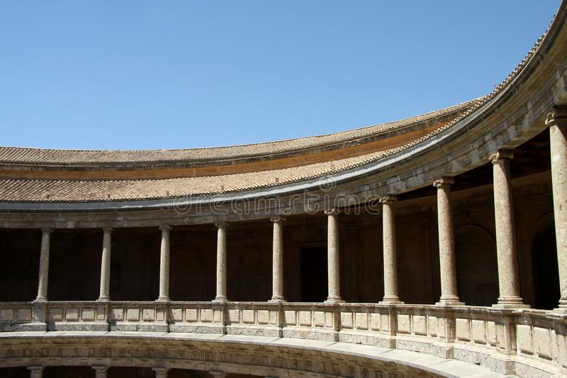 Pałac Charles V w Alhambra, Granada, Andalusia, Hiszpania fotografia royalty free