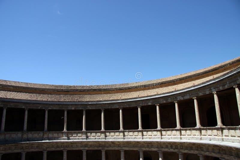 Pałac Charles V w Alhambra, Granada, Andalusia, Hiszpania zdjęcie royalty free