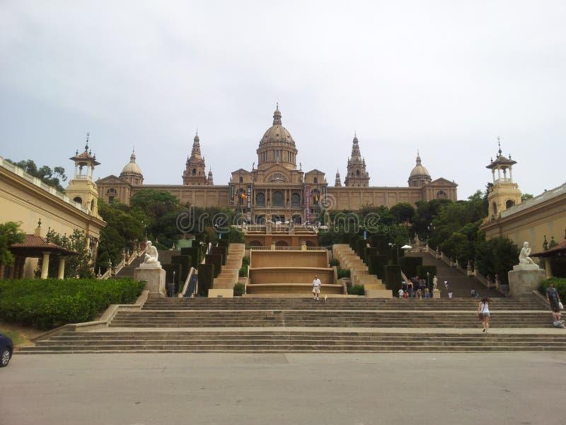 Pałac De Montjuic, Barcelona fotografia stock
