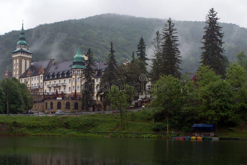 Pałac hotel w Bukk górach przy Lillafured, Miskolc, H zdjęcia stock