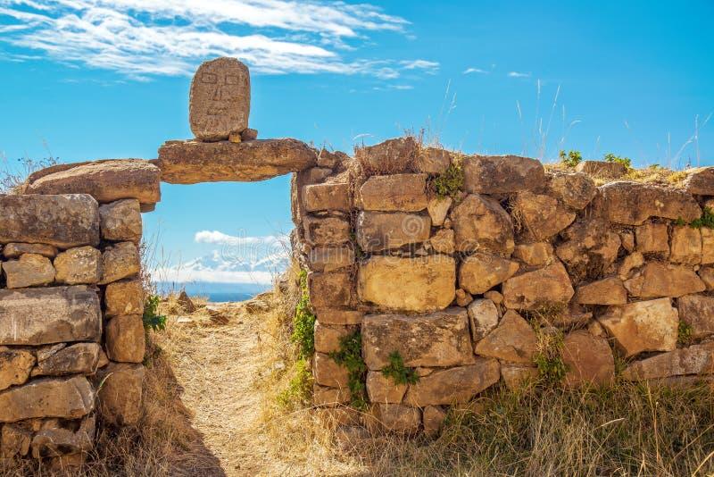 Pałac inka wejście fotografia royalty free