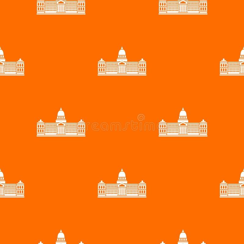 Pałac kongres, Argentyna deseniowy bezszwowy royalty ilustracja