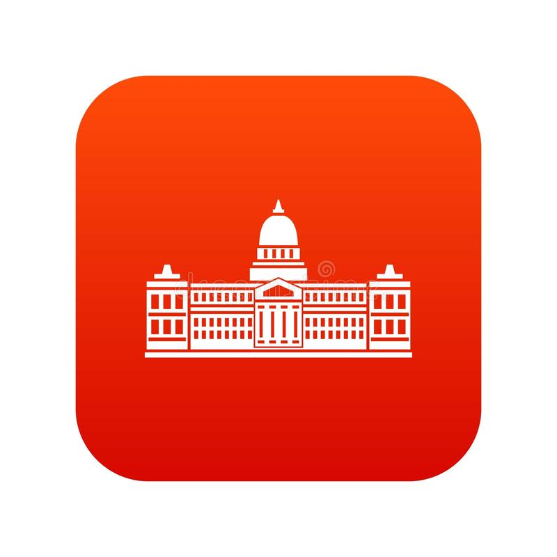 Pałac kongres, Argentyna ikony cyfrowa czerwień royalty ilustracja