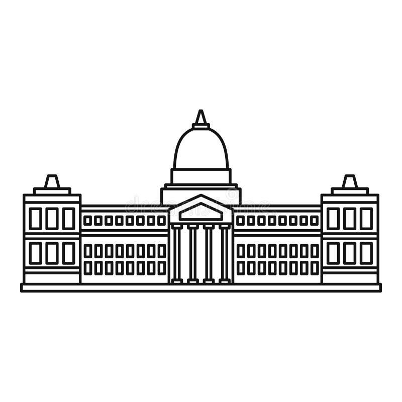 Pałac kongres, Buenos ikona, konturu styl royalty ilustracja