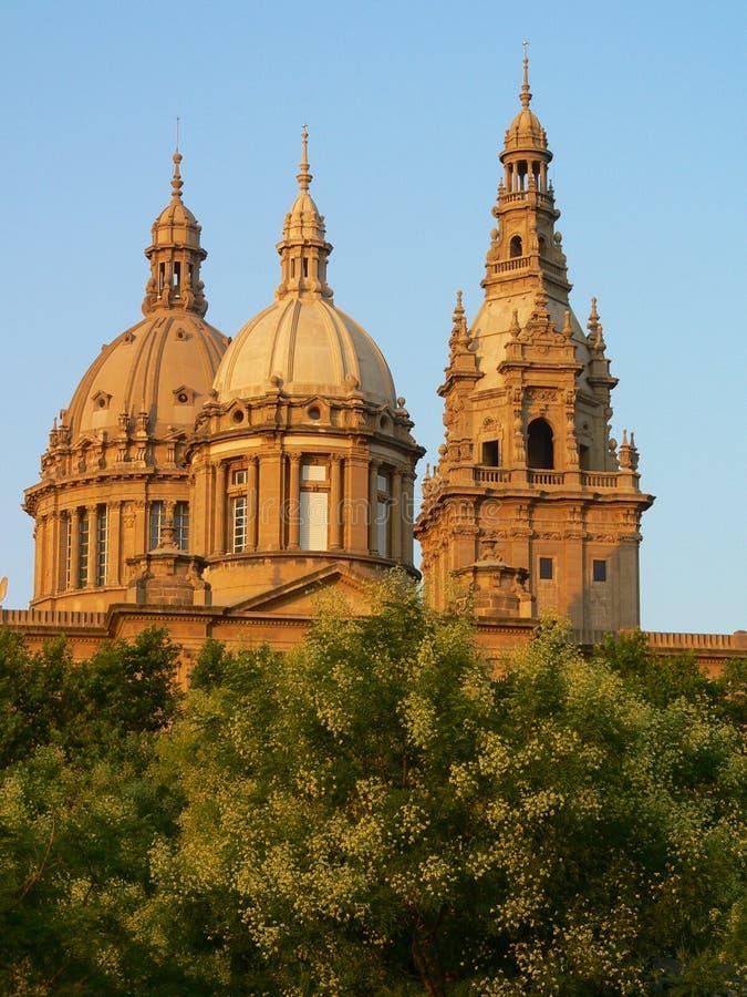 pałac królewski barcelona fotografia royalty free