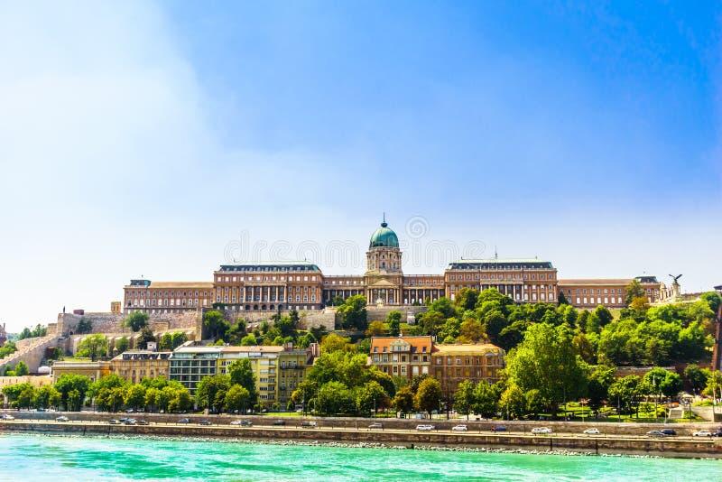 Pałac królewski Buda w Węgry obraz royalty free