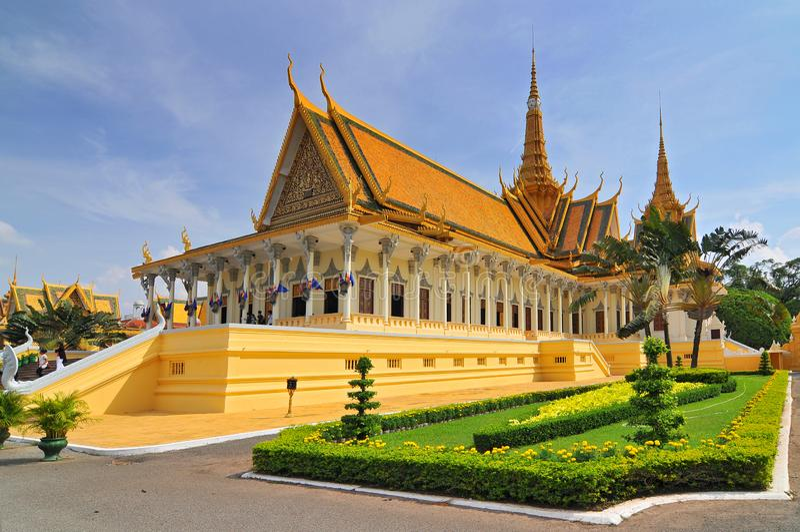 Pałac Królewski w Phnom Penh, Kambodża obraz royalty free