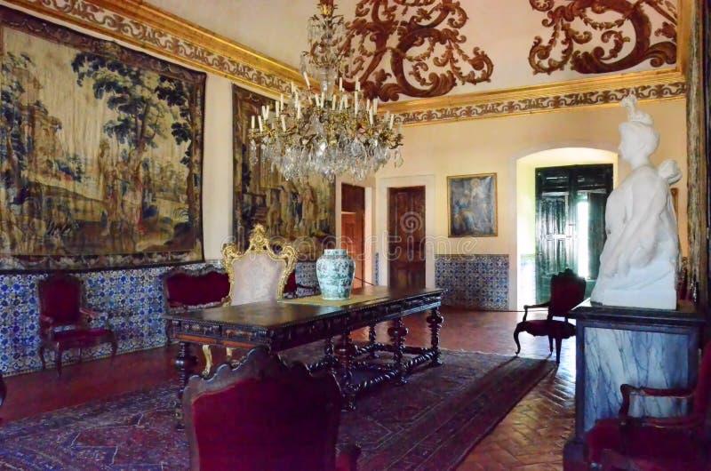 Pałac królewski w Portugalia zdjęcie royalty free