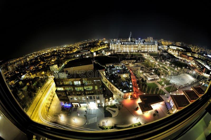 Pałac kultura punkt zwrotny w Rumunia zdjęcia royalty free