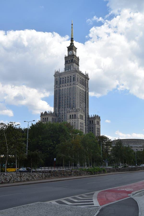 Pałac kultura, Warszawski Polska obraz stock