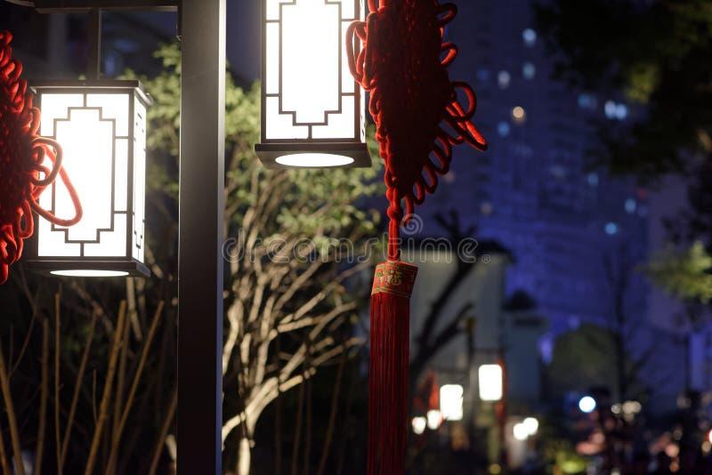 Pałac lampionu pawilonu parka noc zdjęcie royalty free