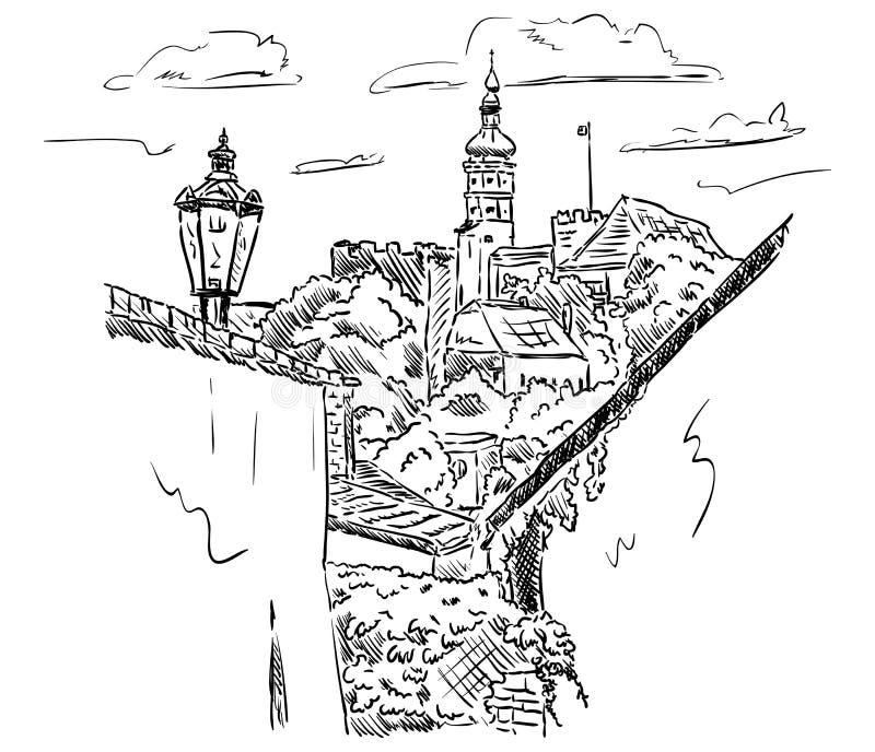 Pałac Mikulov ilustracji