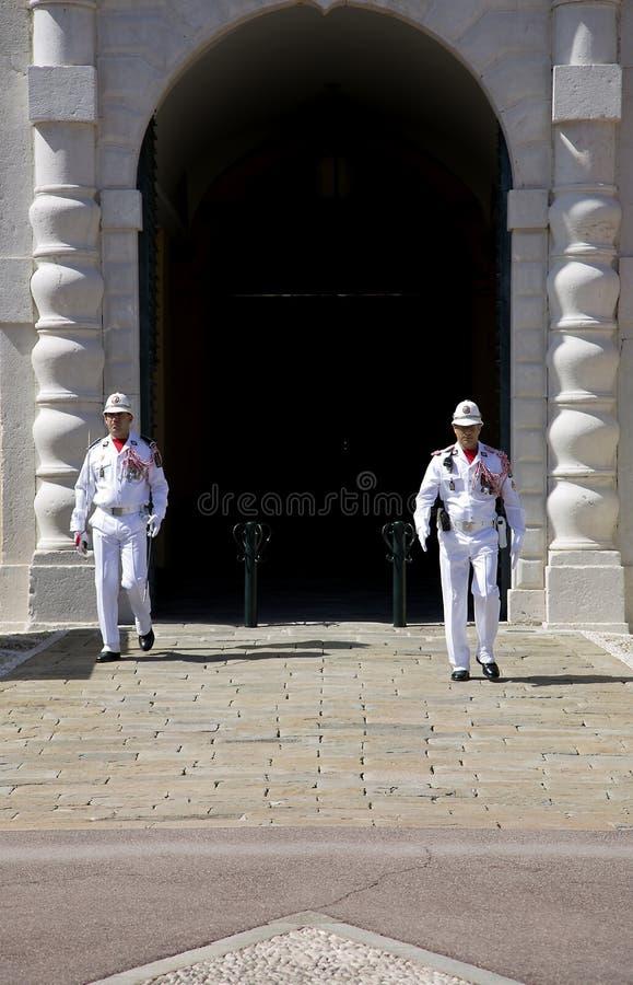 Pałac Monaco jest oficjalną rezydencją książe Monaco zdjęcia stock