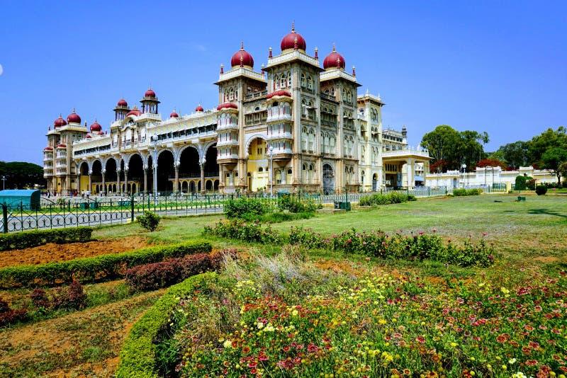 Pałac Mysore w Mysuru India obrazy royalty free