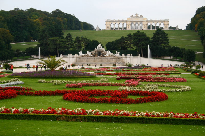pałac ogrodowy schonbrunn zdjęcie stock