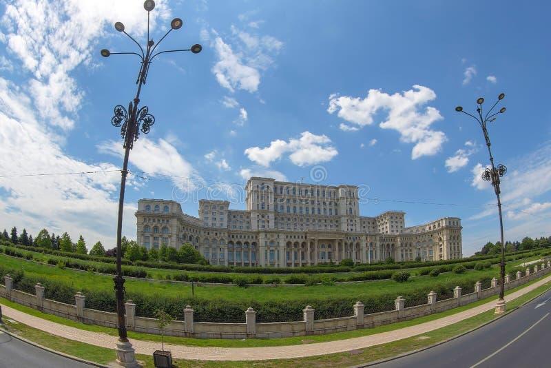 Pałac parlament Bucharest, Rumunia zdjęcie stock