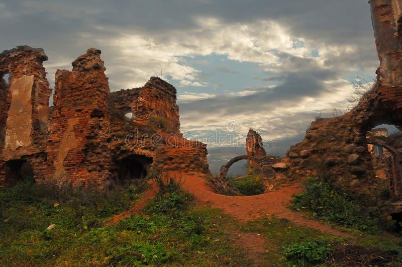 pałac pełnoletnie stare ruiny obraz stock