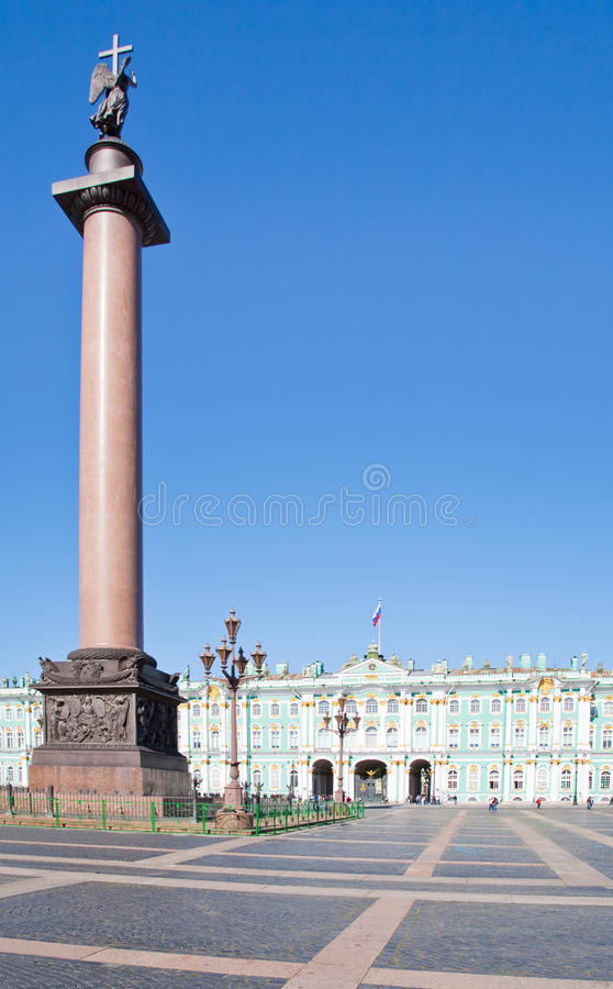 pałac Petersburg Russia kwadratowy st fotografia royalty free