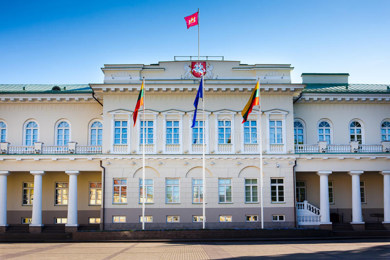 pałac prezydencki Vilnius zdjęcie stock